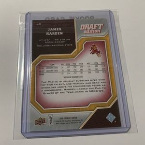 Upper Deck Other - James Harden '09 Upper Deck Rookie Card
